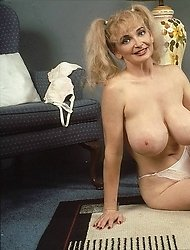 Mature Kathi shows big knockers